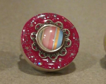 Hot Pink Sparkle Ring!