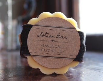 Lavender Patchouli Lotion Bar