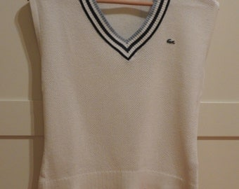 LACOSTE cotton knit top size 38