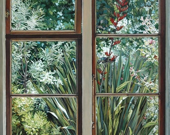Aotearoa, from the Inside Out - Ltd Ed. Giclée Art Print on Canvas by Jane Nicol