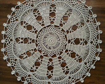 Taupe doily