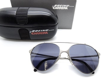 Boeing by Carrera 5710 80's Aviator Glasses With Original Case NEVER WORN