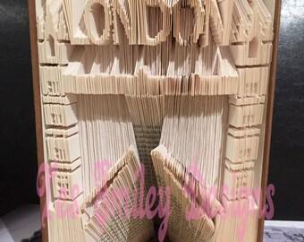 London tower bridge cut and fold bookfold book folding design