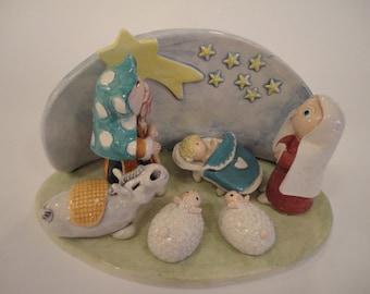 Ceramic Nativity scene - Christmas decorations - Home decor - MADE TO ORDER