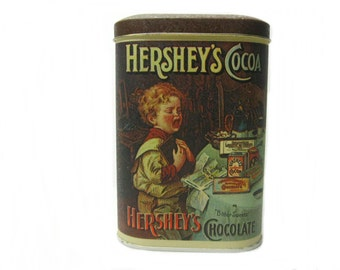 Collectible Hershey's Cocoa Can Tin, Vintage Hershey's Can, Made in England 1984