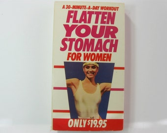 30 Minute Exercise Workout Video Tape, Flatten Your Stomach, VHS 1985