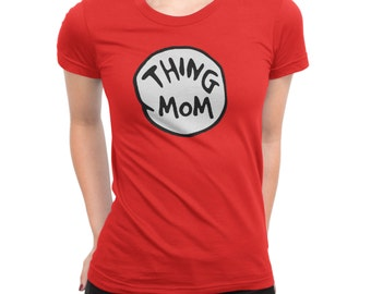 Dr. Seuss Thing 1 Thing 2 Costume Womens Shirt.  also available for the whole family
