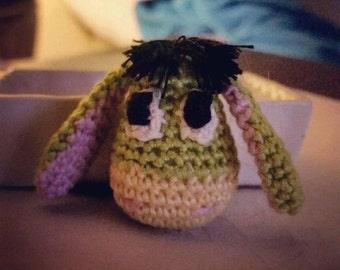 Crocheted Donkey Key Chain, Donkey Key Chain, Crocheted Donkey, Stuffed Donkey Key Chain