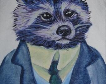 Original Painting - Mr. Coon