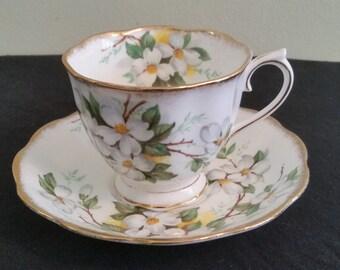 Royal Albert  White Dogwood Cup and Saucer
