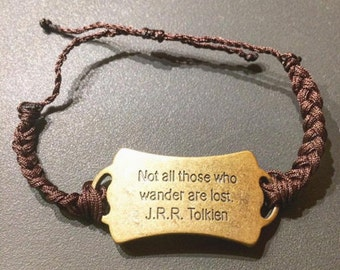Not All Those Who Wander Are Lost Handmade Bracelet