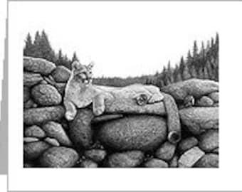 Mountain Lion Notecard
