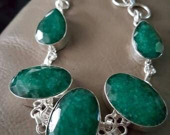 Emerald Bracelet- 9 inches!