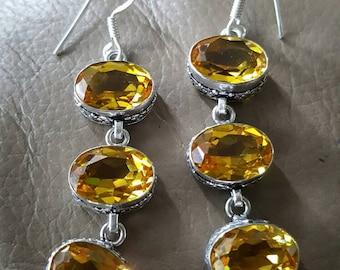 Citrine Gemstone Earrings!