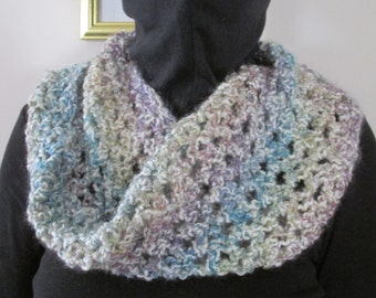 Infinity multi color cowl, hand made