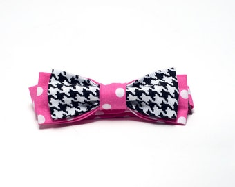 Polkatooth Girl's Bow Tie