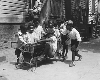 """African American Art """"African American Children Playing, 1915""""   8 x 10 in. Print"""