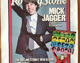 Mick Jagger 1978 Original Rolling Stones Poster