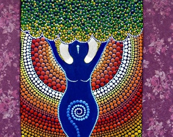 ORIGINAL Painting  Goddess of Fertility  The painting will bring your home a lot of happiness, love, prosperity