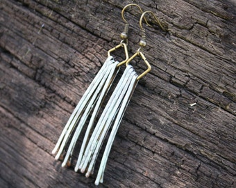 mint bobby pin earrings