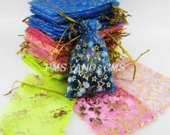 25 Assorted Color Organza Bags 10 x 12cm (B113i)
