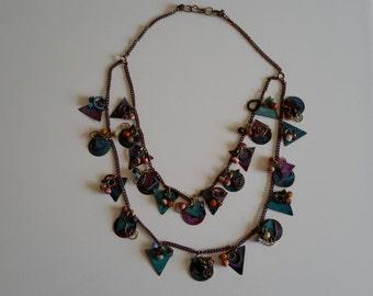 Unique, Artistic, Double Strand Necklace