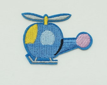 On Sale Cute Helicopter Copter Sew Iron on Patch DIY