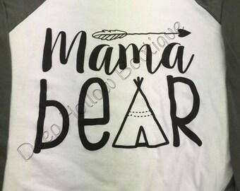Mama Bear Shirt, Family Shirt, Bear Shirt, Mama Shirt