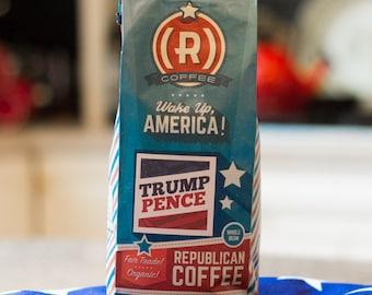Trump Pence, Roast Coffee, Trump Lover Gift, Coffee Beans, Brew Coffee, Aroma Coffee, Republican Coffee, Republican Gift, Unique Gift Idea