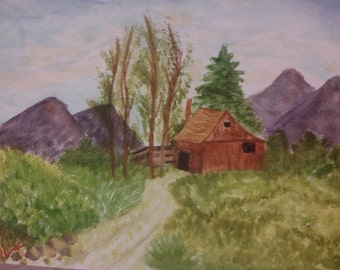 Take Me Home, Country Roads Watercolor Painting