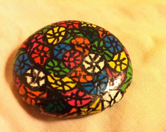 Colorful Design Painted Rock
