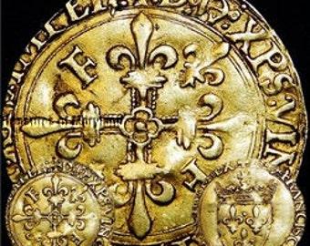 """Fantastic! France 1515-1547 """"Francis I"""" Gold ECU D'OR sku #FG5"""