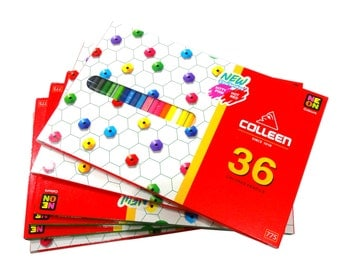 Colleen Pencils 36 Neon Colors Free Shipping