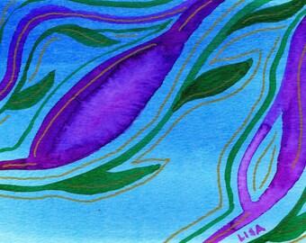 Spring Florals Watercolor Art Cards