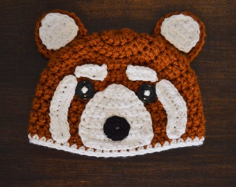 Rosie the Red Panda Crochet Hat