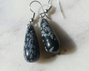 Natural teardrop shaped Gemstone earrings