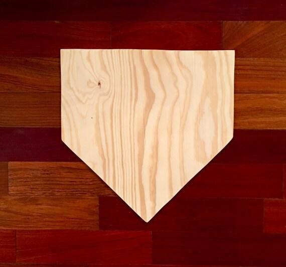 Baseball Home Decor: Home Plate Baseball / Softball Wood Blank DIY Blank