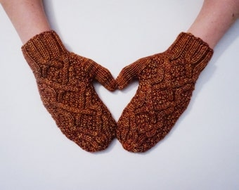 Changing Cable Mitten Knitting Pattern