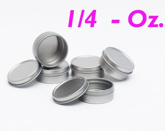 1/4 Oz Round Metal Tin Container for lip balm,crafts,storage,survival