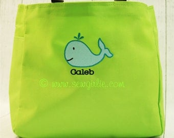Adorable Monogrammed Whale Tote
