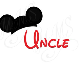Uncle Mickey Family Shirt DIY Mickey Mouse Head Disney Family Download Iron On Craft Digital Disney Cruise Line Magnet Shirts
