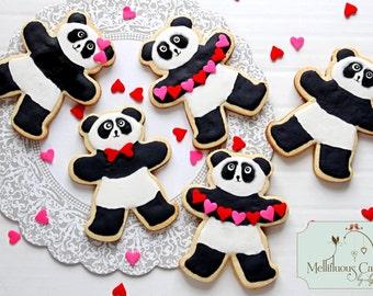 Valentine Panda cookies half dozen