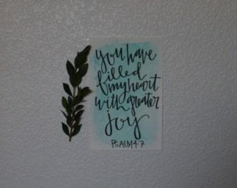 Psalm 4:7 Watercolor