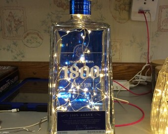 Lighted Tequila Bottle
