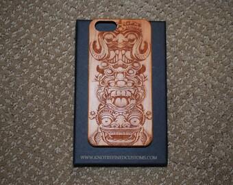 Totem Pole Wood Iphone case