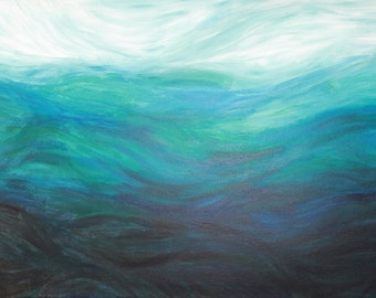 Ocean abstract painting