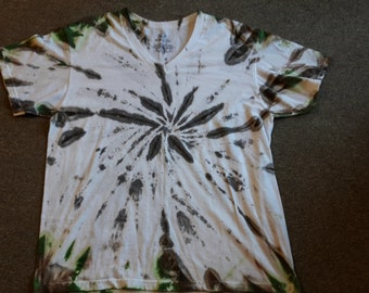 Adult large camo hand dyed tie dye shirt
