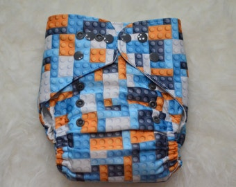 Legos One Size Pocket Cloth Diaper