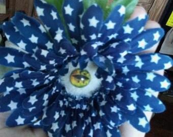 Eyeball Flower Hair Clip