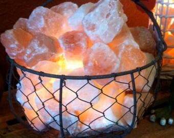 """Chicken Wire Himalayan Salt """"Egg Basket"""""""